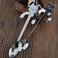 Cute Katze Löffel langer Griff Besteck Kaffee trinken Werkzeugen Küchen Gerät