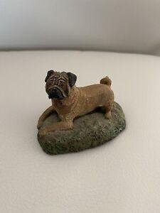 Pug Cold bronze cast kennel collection dog pug Vintage