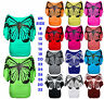 New Ladies Glitter Butterfly Print Tops Womens Batwing Short Sleeve T-Shirt Top