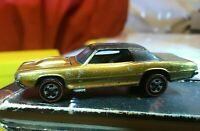 Hot Wheels Redline 1967 Custom T-Bird gold us base '67 redlines brown interior!