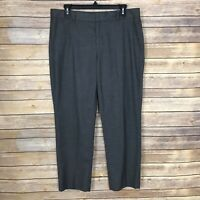 Banana Republic Avery Slim Straight Leg Pants Womens Size 8 Mid Rise Flannel