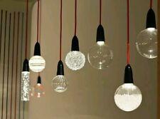 NUD Collection Da Soffitto LED Luce Ciondolo Tessuto Cavo/Corda Grigio