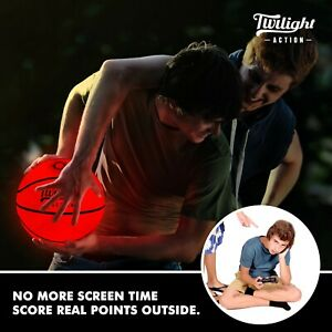 Light Up LED Glow In The Dark Basketball with 2 Bright Inner Lights.