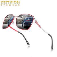 KEITHION Fashion Classic Oversized Polarized Women Sunglasses Driving Glasses