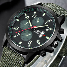 2018 Men's Military Steel Military Date Quartz Analog Army Sport Wrist Watches