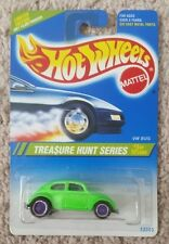 HOT WHEELS 1995 TREASURE HUNT VW Bug - New On Card w/ Protector - MINT (READ)