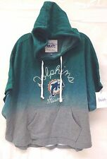 Miami Dolphins Womens Touch By Milano M Sideline Ponco Hoody 739