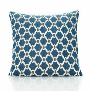 """'Berkeley' Patterned Scatter Cushion - Teal (17"""" x 17"""")"""