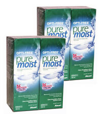 Pure Moist 4 x 300ml  Comfort Moisturiser Contact Lens Solution Opti Free