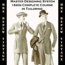 1920s Master Designer's System Cutting Men's Tailoring Pattern Drafting Book CD
