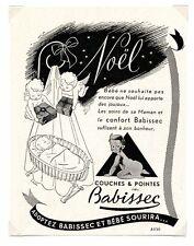 1940 / Publicité pour BABISSEC COUCHES BEBE / FRLD134