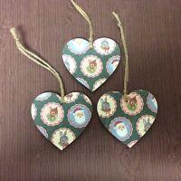 Rabbit Wooden Hearts Christmas Tree Decoration, Gift Tags Handmade