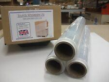 6 X MEGA STRONG ROLLS CLEAR PALLET STRETCH SHRINK WRAP CAST 500mm 350m 25 Micron