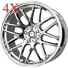 Drag Wheels DR-37 20X10 5/120 +35 offset Chrome Rims For BMW x5 X3 540 535 740
