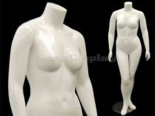 Female Mature Plus Size Headless Mannequin With High Heel Feet Md Nancybw1s