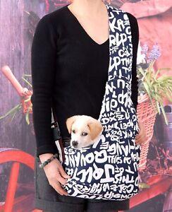Canvas Pet Dog Carrier Bag Dog Cat Shoulder Sling Bag Tote Travel Tote Handbag