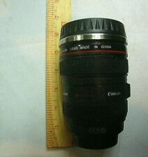 Caniam Ultrasonic Camera Lens Shaped Thermos Black Red Portable 6 1/2 In Tall