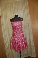 "Betsey Johnson Evening Pink Lace Corset Dress Size 4 ""Excellent"""