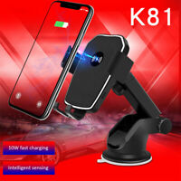K81 Car Wireless Charger 10W Fast Charging Suction Cup Mobile Phone Holder Mount