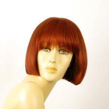 perruque femme 100% cheveux naturel courte cuivré intense ref ELISA 130