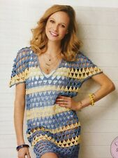 C4 - CROCHET PATTERN - Triangle Tunic/Beach Cover-up/ DK / 5 Sizes