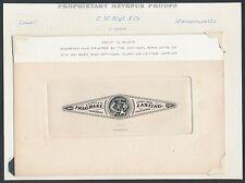 #RT10P1 E.W. HOYT & Co. 4¢ LRG DIE PROOF ON INDIA SUNK ON CARD EX-JOYCE BR2988