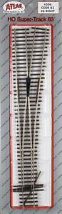 """Atlas #506   #6 Right """"Super Switch"""" Turnout Track,  Code 83 Rails,  HO Scale"""