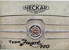 N°2363 / dépliant NECKAR type JAGST 770   FIAT 500