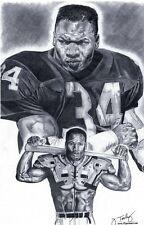 L.A. Raiders Bo Jackson poster sketch art