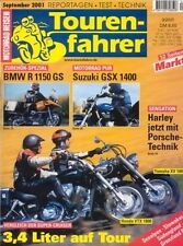 TF0109 + Test SUZUKI GSX 1400 + Zubehör BMW R 1150 GS + Tourenfahrer 9/2001