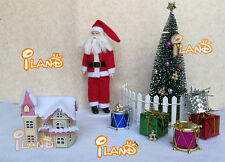 Christmas Set Decoration Father Christmas Tree House Gift Boxes Bells Drum Star
