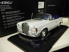 1:18 norev mercedes 280se convertible w111 cabriolet Weiss-gris nuevo New
