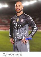 Pepe REINA + FC Bayern München + Saison 2014/2015 + Original Autogrammkarte