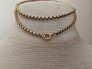 Chunky antique 9ct rose gold  42cm long chain 5.5 grams
