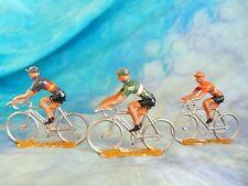 3 figurines de cyclistes en aluminium COFALU - SALZA ? Lot 6 (ref V34)