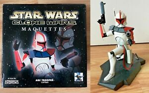 ARC TROOPER CAPTAIN STAR WARS CLONE WARS MAQUETTE GENTLE GIANT #47/2500 WITH BOX