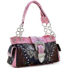Women Faux Leather Handbag With Floral Embroidered And Stitched Rhinestone