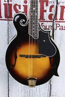 Washburn Florentine Cutaway F Style All Solid Mandolin Tobacco Burst w Case NAMM