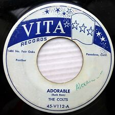 the COLTS doowop 45 on vg+ VITA 45 Adorable b/w Lips Red As Wine  ws852