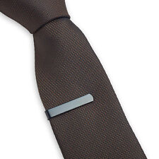 Mens Boys Grey 3CM Tie Bar Skinny Stainless Steel Clip Black Pin Gray Black