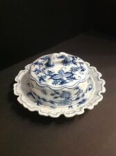 Meissen Crossed Swords Blue Onion Cheese/butter Dish. Antique Pre-1888. Germany