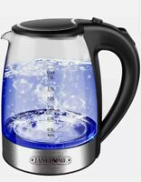 Electric Kettle,Glass Tea Kettle 1.8L with Blue LED for Boiling Water
