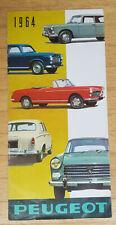 Peugeot Programm 1964 - Prospekt Brochure (Modelle 403 404 D4 auch Coupe Cabrio)