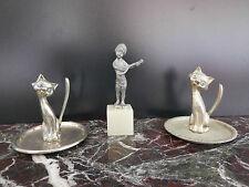 figurines statuettes plomb métal argenté art-déco CURIOSITY by PN