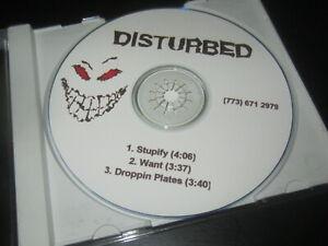 DISTURBED 1999 record company solicitation press kit w/ DEMO CD ultra rare items