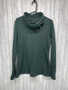 Womens Size M prAna Wool Blend Mock Neck Sweater NWOT