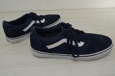 Vans Shoes Navy Blue Suede Mens size 10 Retro Old Skool