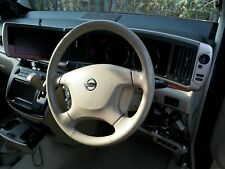 Genuine nissan elgrand e51 series 2  leather steering wheel very good condition