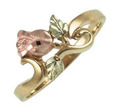 Coleman 10K Black Hills Gold Rose Ring Size 6.5