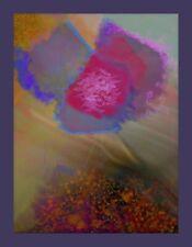 """Painting, original digital art on canvas ,""""Lonely bloom""""-René Castillo-Ramos"""